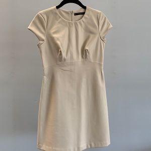 Zara Cream Faux Leather Dress